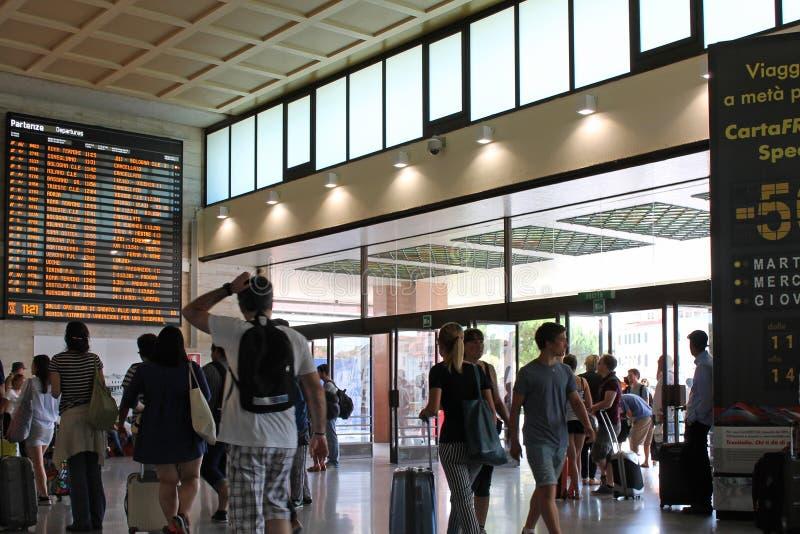 Santa Lucia train station in Venice Italy royalty free stock photo