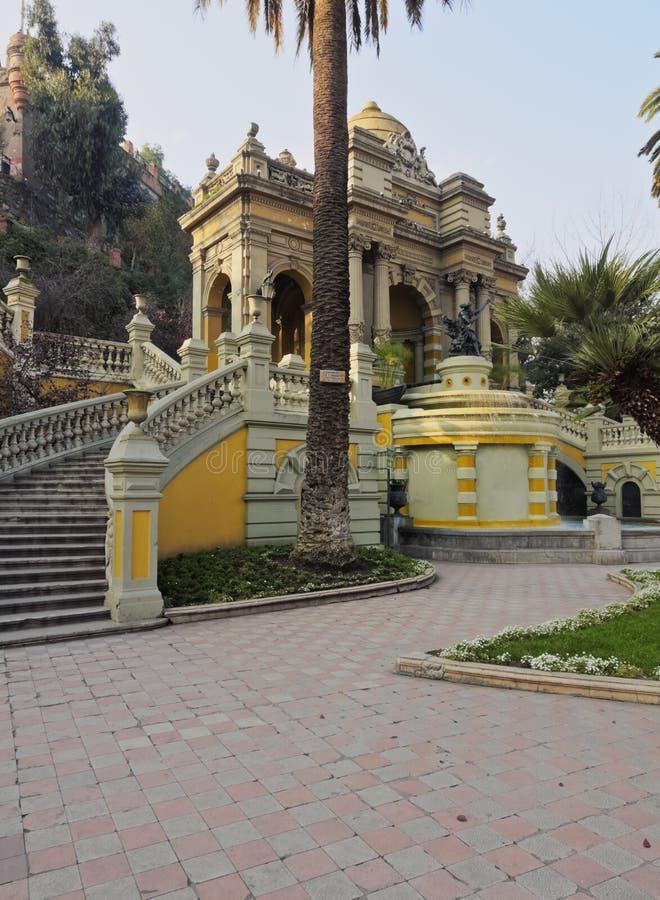 Santa Lucia wzgórze w Santiago de Chile obraz royalty free