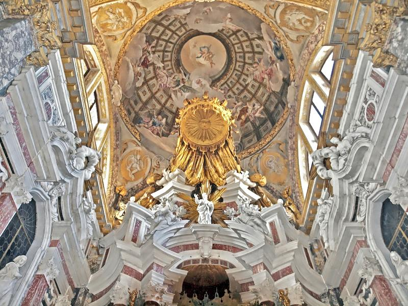 Santa Maia de Nazareth eller Chiesa degliScalzi kyrka i Venedig royaltyfri foto