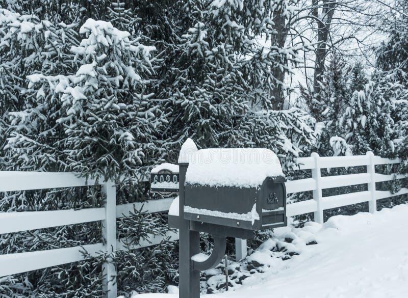 Download Santa Mail stock photo. Image of white, tree, snow, snowy - 83711196