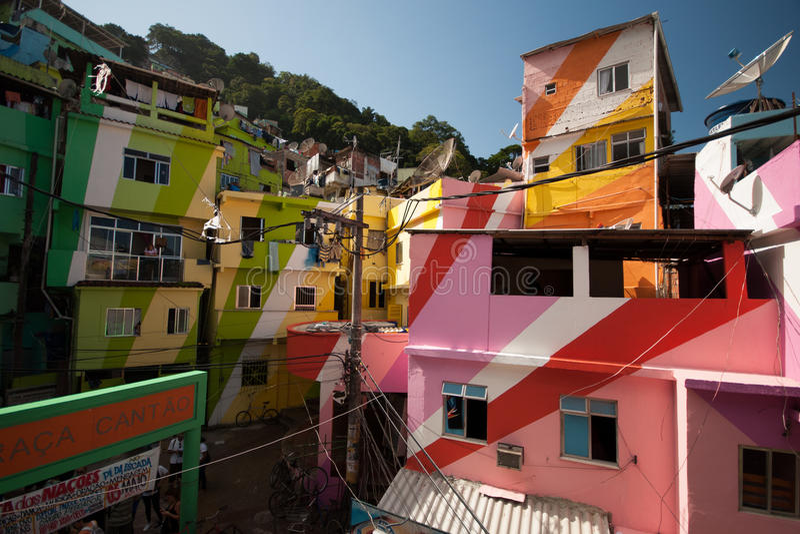 Santa Manta Slum fotografie stock