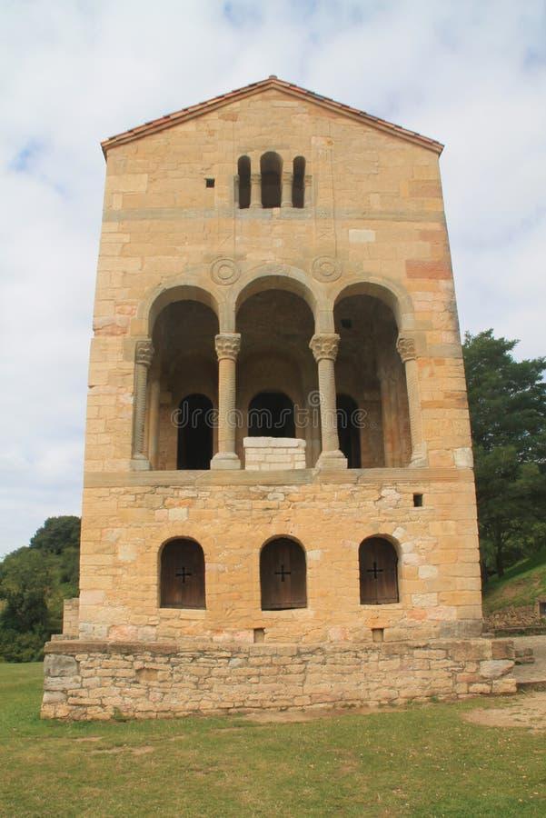Santa MarÃa del Naranco, Oviedo, Spanje stock afbeelding