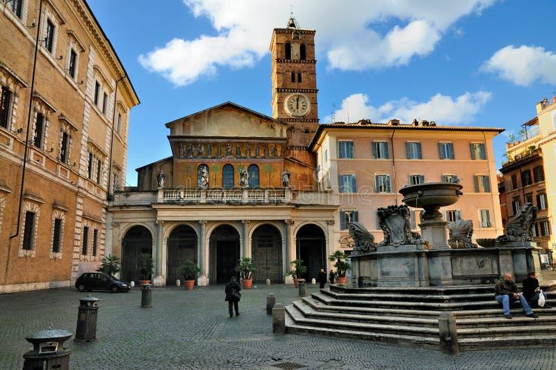 Santa María en Trastevere imagen de archivo libre de regalías