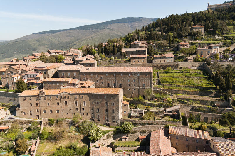 Santa Margherita in Cortona, Toscana - Italia fotografia stock