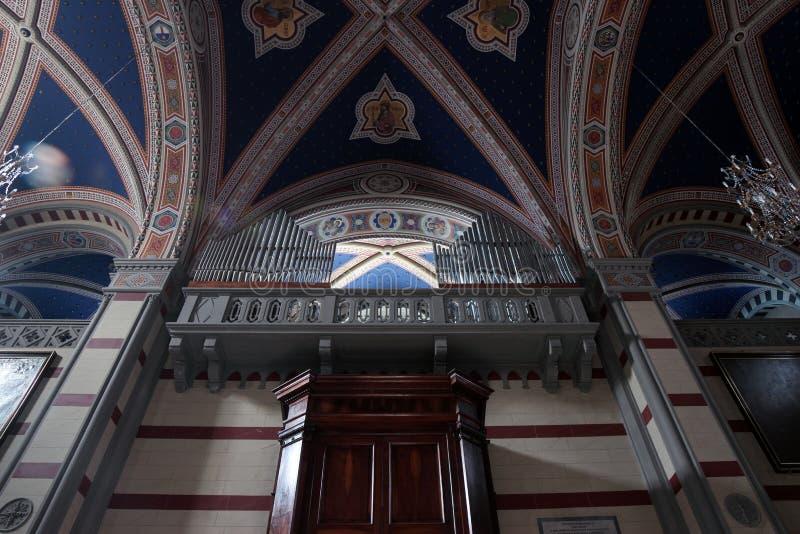Santa Margherita en Cortona, Italia imagen de archivo libre de regalías