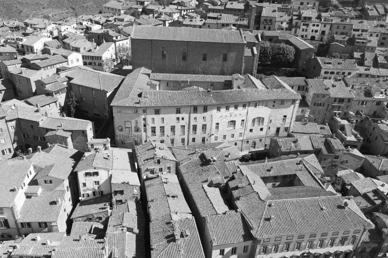 Santa Margherita en Cortona, Toscana - Italia imagenes de archivo