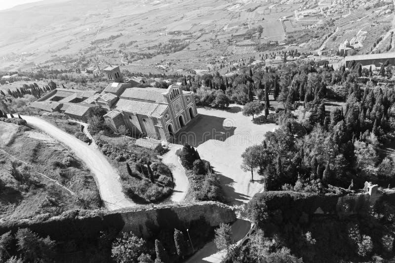 Santa Margherita en Cortona, Toscana - Italia fotografía de archivo libre de regalías