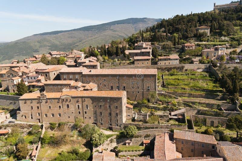 Santa Margherita i Cortona, Tuscany - Italien arkivfoto