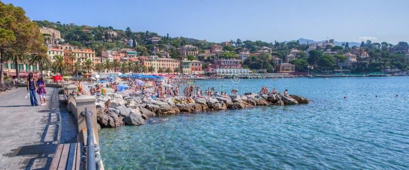 Santa Margherita Ligure, Ιταλία - μέτωπο παραλιών στοκ εικόνα