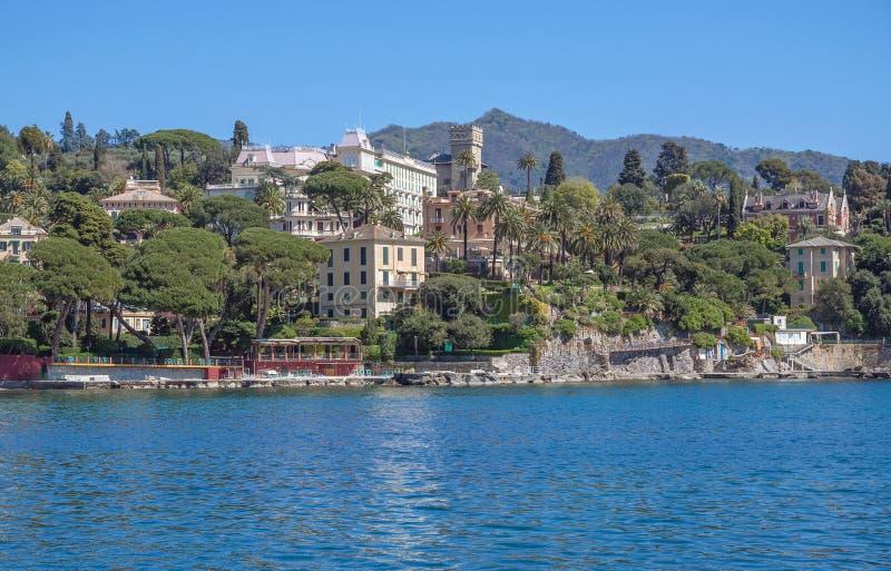 Santa Margherita Ligure cerca de Portofino, Liguria, Italia fotos de archivo