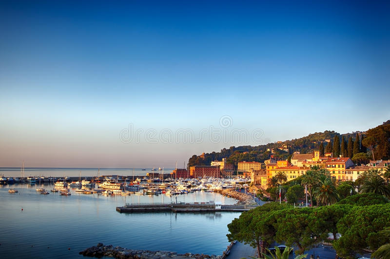 Santa Margherita Ligure, Italienne Reviera image libre de droits