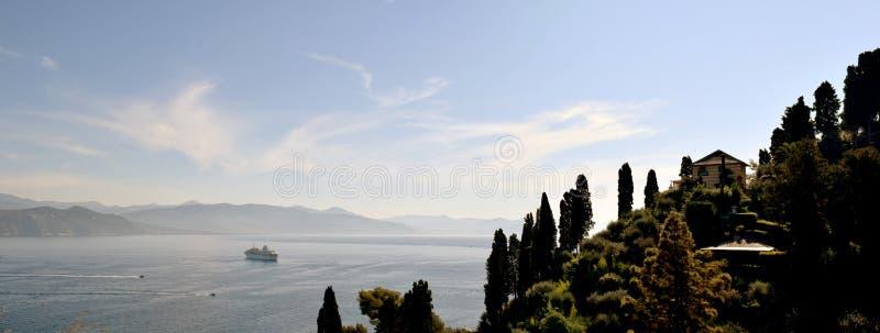 Santa Marguerita Ligure Sea View images libres de droits