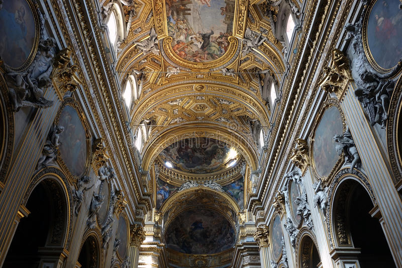 Santa Maria в Vallicella, Рим стоковые изображения