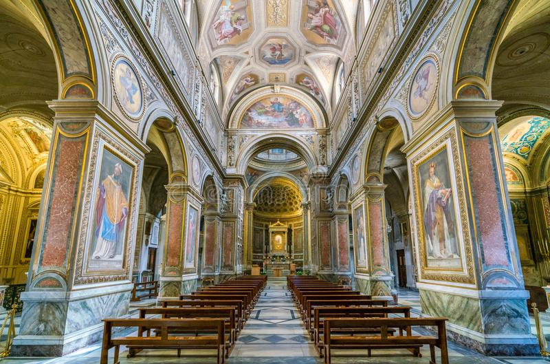 Church of Santa Maria in Aquiro, in Rome, Italy. Santa Maria in Aquiro is a church in Rome, Italy. It is dedicated to Mary, mother of Jesus, and is located on royalty free stock images