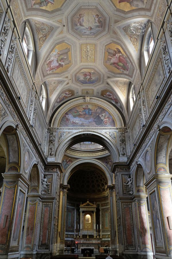 Santa Maria in Aquiro church in Rome. Italy royalty free stock photos