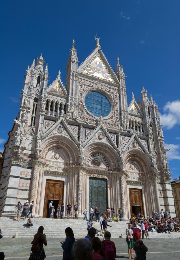 Santa Maria Assunta Cathedral en Siena, Italia imagen de archivo