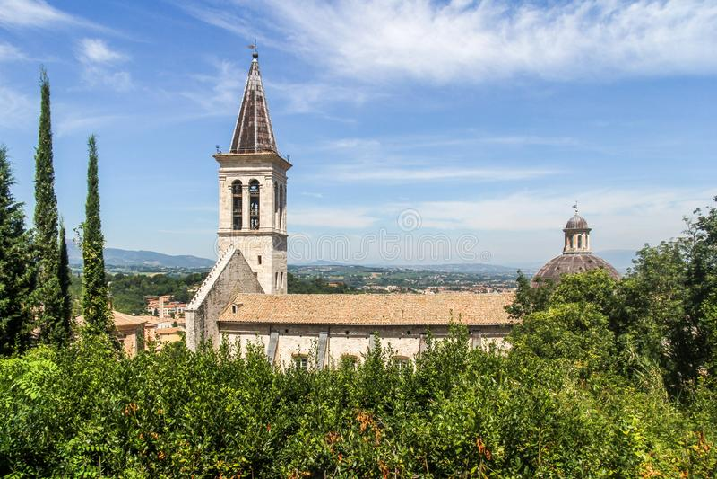 Santa Maria Assunta Cathedral, Spoleto imagen de archivo libre de regalías