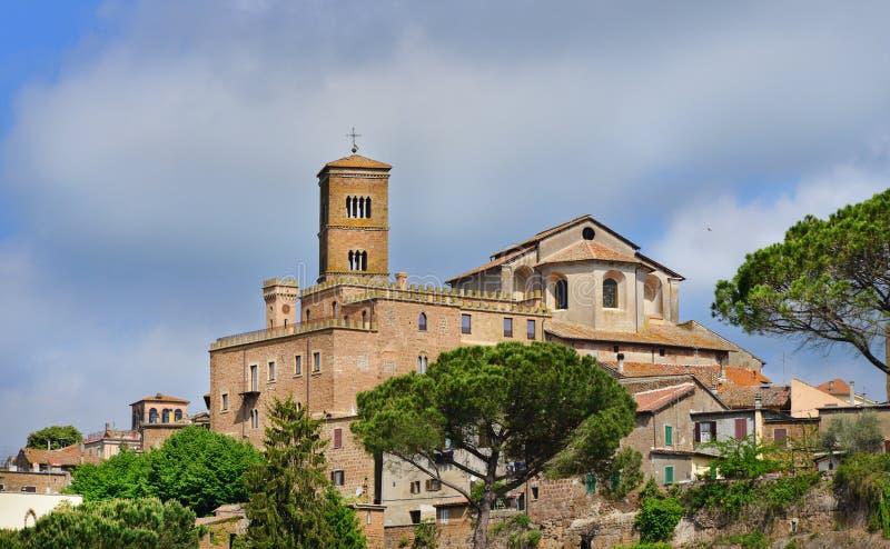 Santa Maria Assunta katedra w Sutri fotografia stock