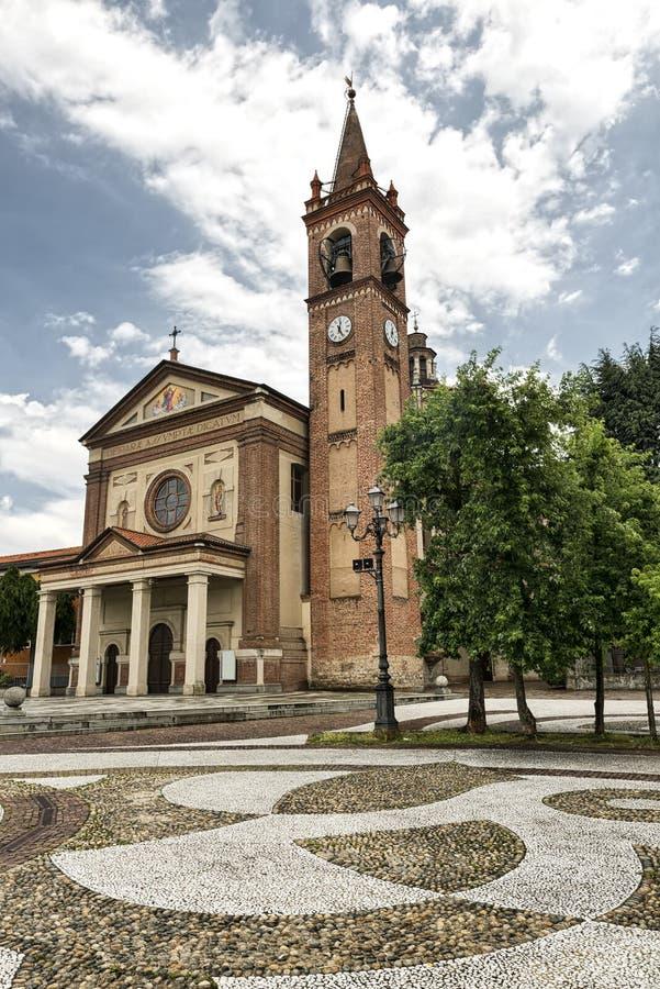 Santa Maria Assunta kościół w Cislago & x28; Lombardy, Italy& x29; obraz stock