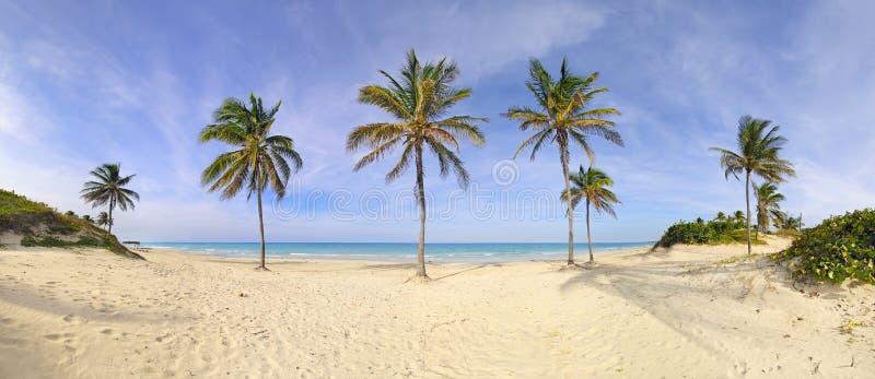 Santa Maria beach panorama, cuba stock photos