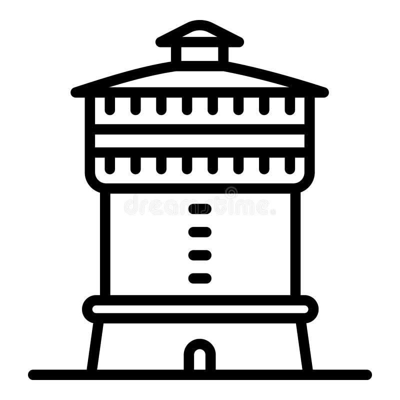 Santa Maria budynku ikona, konturu styl ilustracja wektor