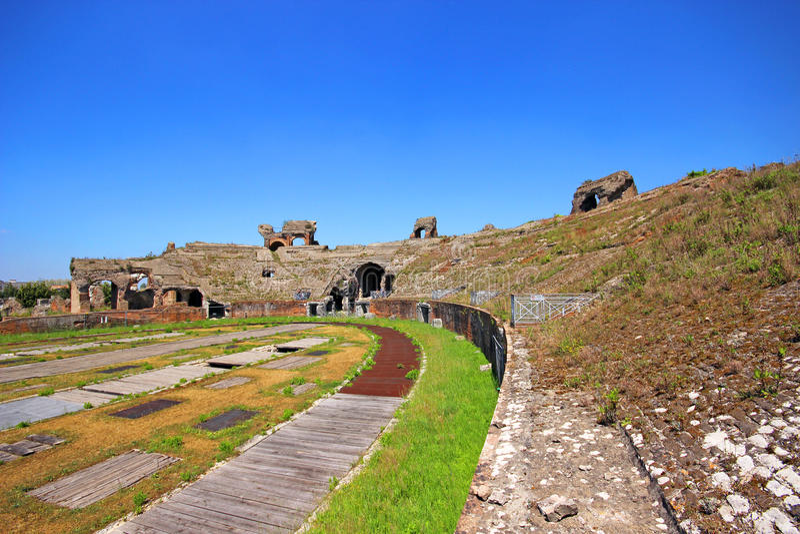 Santa Maria Capua Vetere Amphitheater in Capua-Stadt stockfotografie