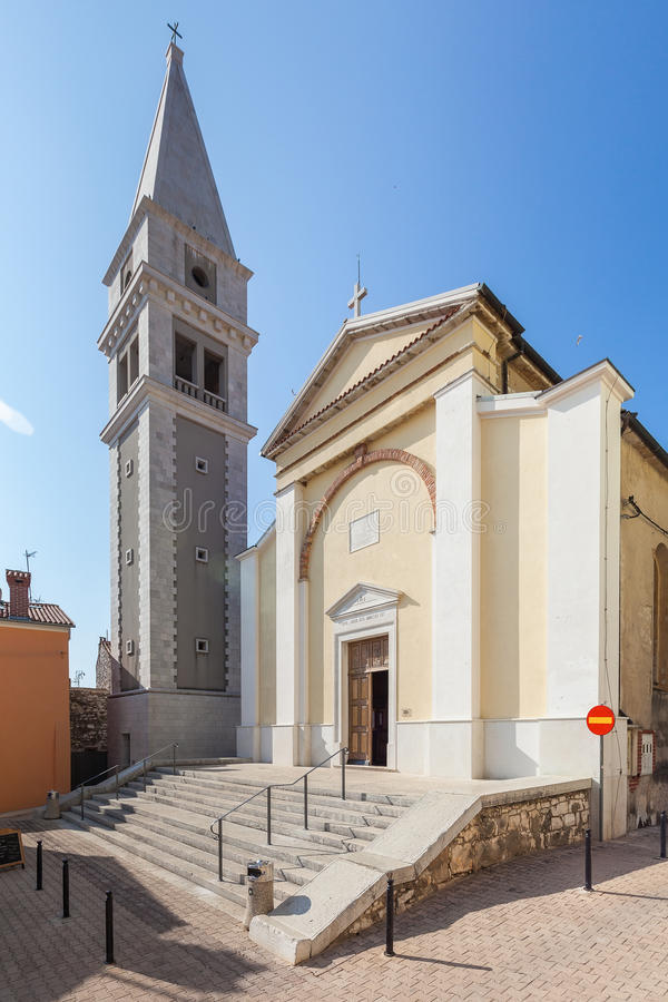 Santa Maria Cathedral in city of Vrsar royalty free stock image