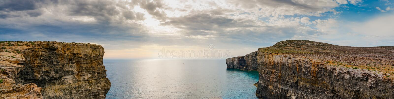 Santa Maria Caves Comino.The Blue Lagoon on Comino Island, Malta Gozo stock photo