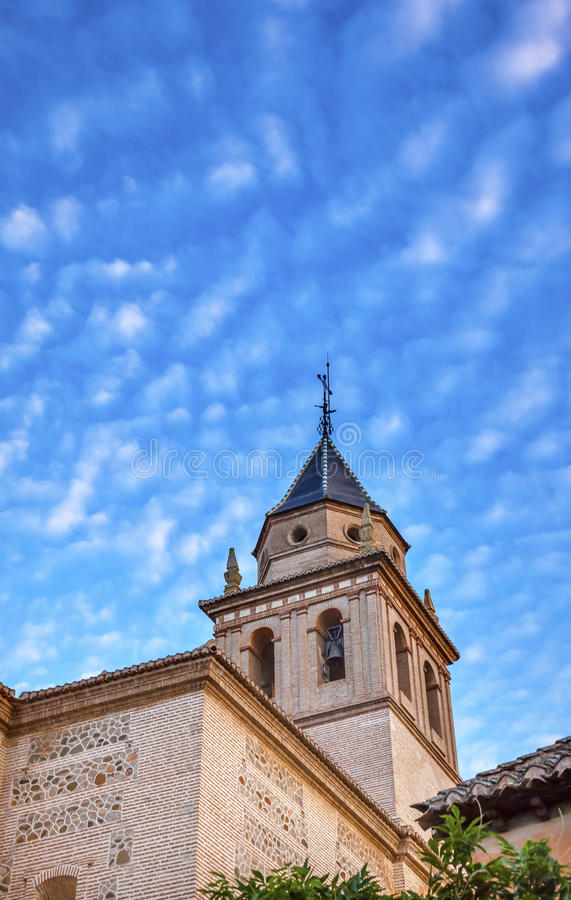 Santa Maria Church Alhambra Granada Andalusia Spagna immagine stock libera da diritti