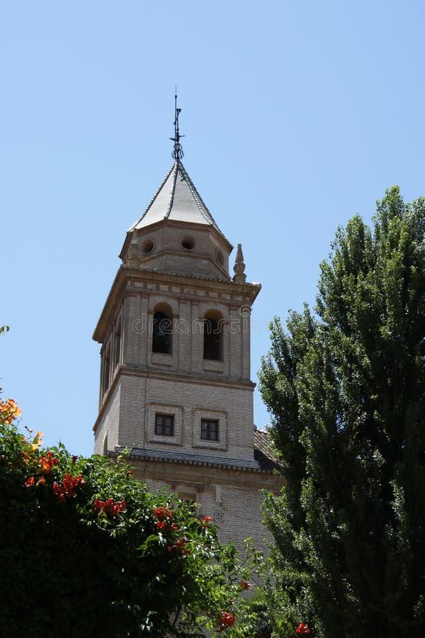 Santa Maria Church Alhambra Granada Andalusia Spanje stock afbeelding