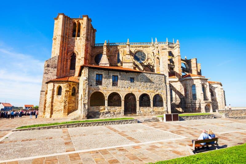 Santa Maria Church, Castro Urdiales fotografía de archivo libre de regalías