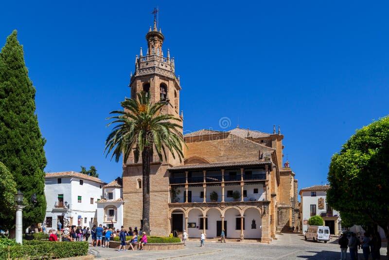 Santa Maria Church en Ronda, Espa?a fotos de archivo libres de regalías
