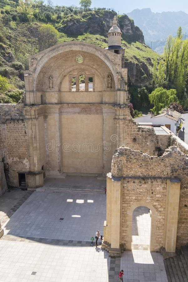 Santa Maria church ruins, Cazorla, Jaen, Spain royalty free stock photos