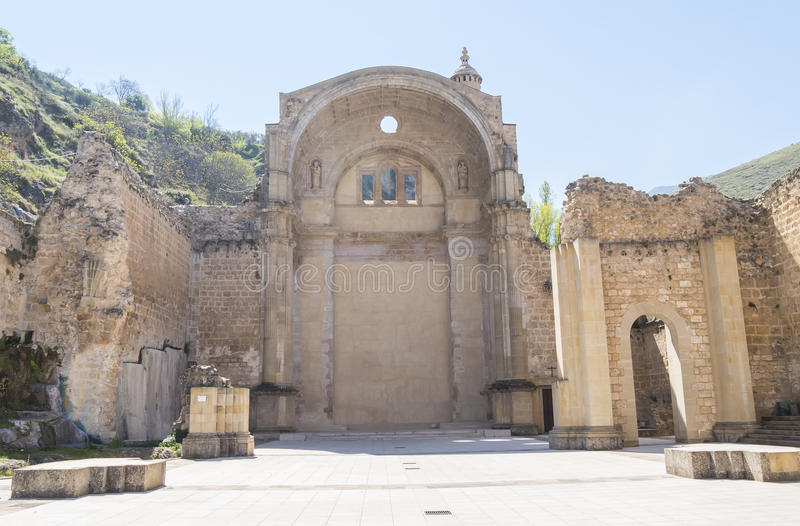 Santa Maria church ruins, Cazorla, Jaen, Spain royalty free stock images