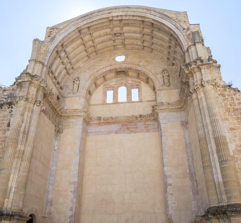 Santa Maria church ruins, Cazorla, Jaen, Spain stock images