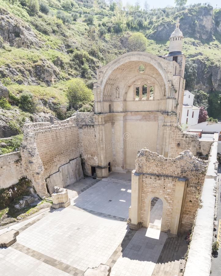 Santa Maria church ruins, Cazorla, Jaen, Spain.  royalty free stock images