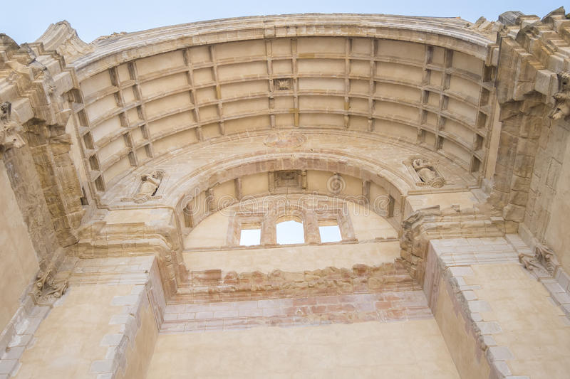 Santa Maria church ruins, Cazorla, Jaen, Spain stock photos