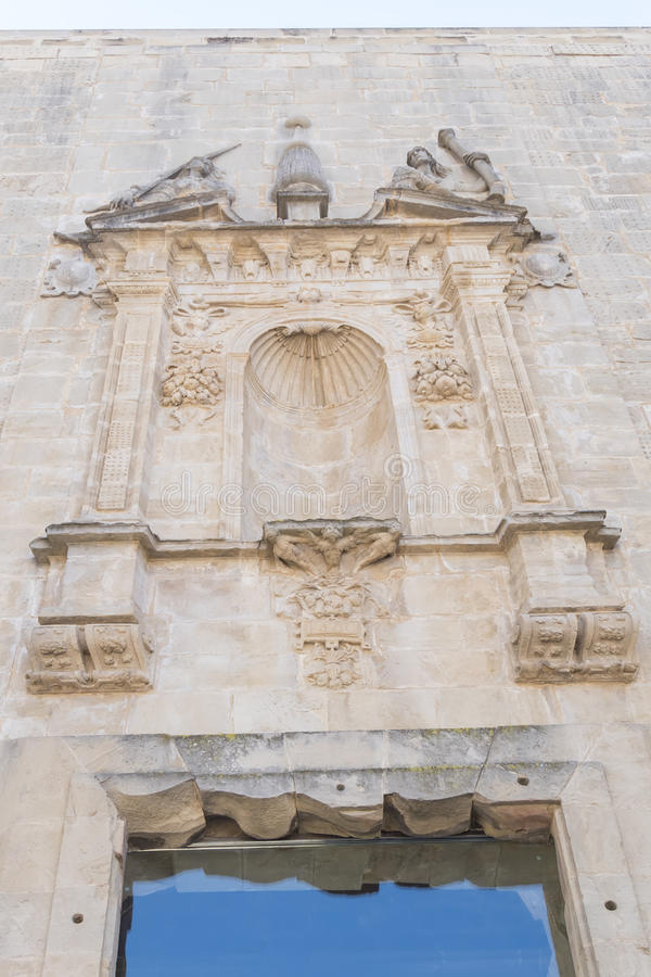Santa Maria church ruins details, Cazorla, Jaen, Spain stock photos