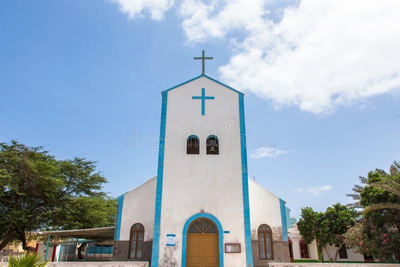 Santa Maria city church in Sal island, Cape Verde - Cabo Verde. Santa Maria city church in Sal island, Cape Verde Cabo Verde royalty free stock image