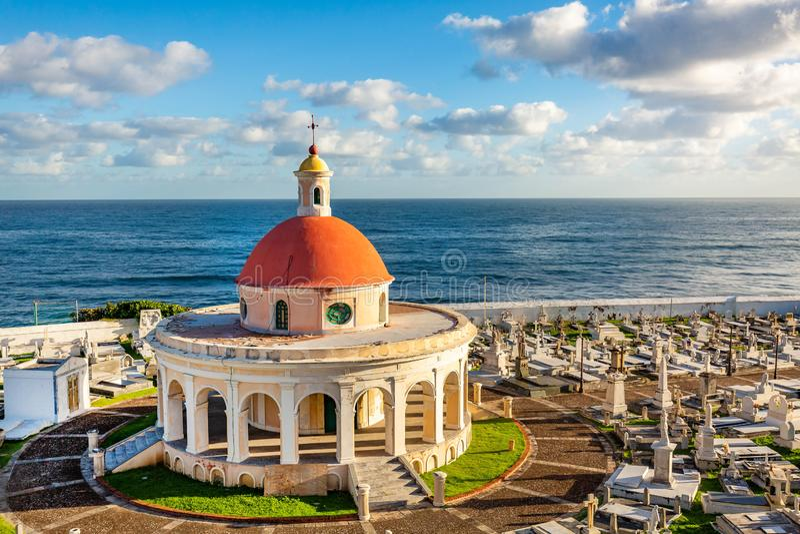 Santa Maria cmentarz w San Juan Puerto Rico zdjęcia stock