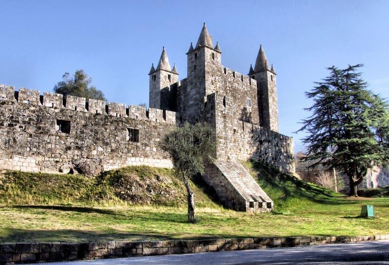 Santa Maria da Feira castle. Middle age castle of Santa Maria da Feira royalty free stock photos