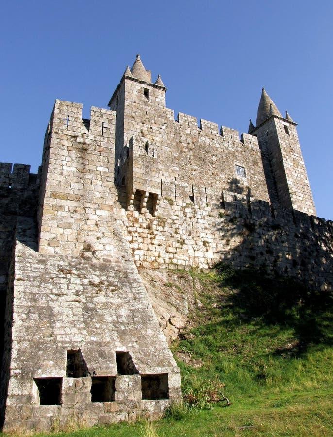 Santa Maria da Feira castle. Middle age castle of Santa Maria da Feira stock image