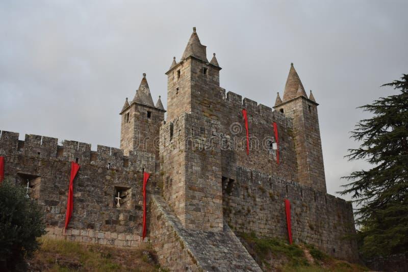 Santa Maria da Feira Castle. The Castle of Santa Maria da Feira is a Portuguese castle in the municipality of Santa Maria da Feira, district of Aveiro stock photo