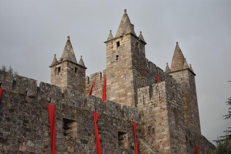 Santa Maria da Feira Castle. The Castle of Santa Maria da Feira is a Portuguese castle in the municipality of Santa Maria da Feira, district of Aveiro stock photography