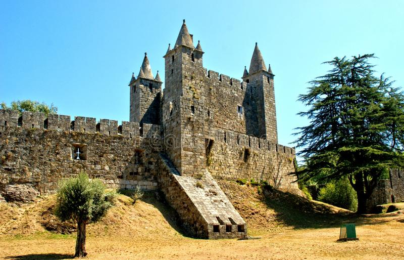 Santa Maria da feira castle. Portugal royalty free stock image