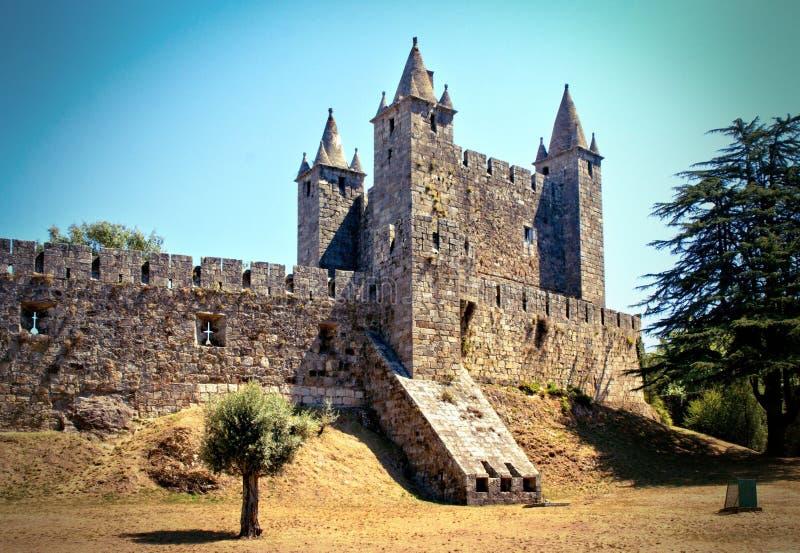 Santa Maria da feira castle. Portugal stock photography