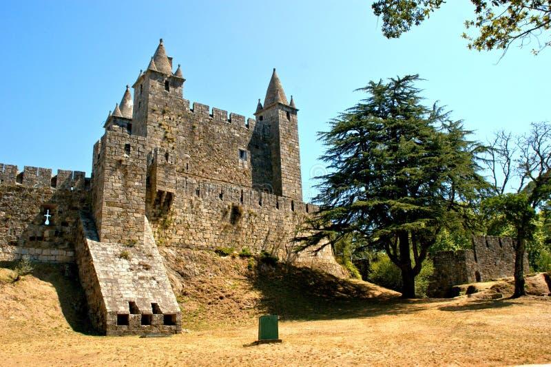 Santa Maria da feira castle. Portugal stock images