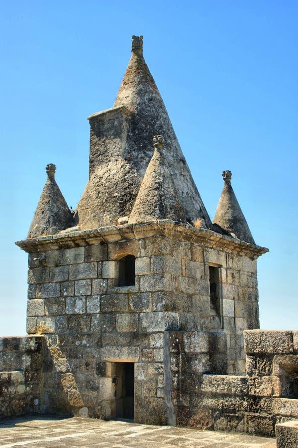 Santa Maria da feira castle. Portugal royalty free stock photography