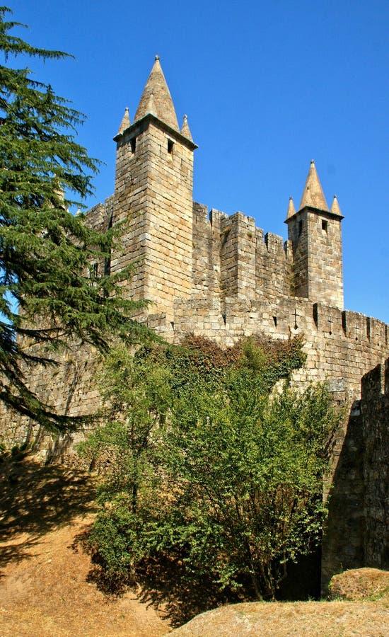 Santa Maria da feira castle. Portugal stock photo