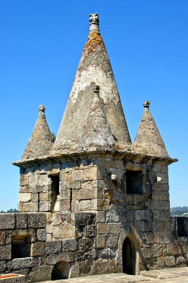 Santa Maria da feira castle. Portugal royalty free stock images